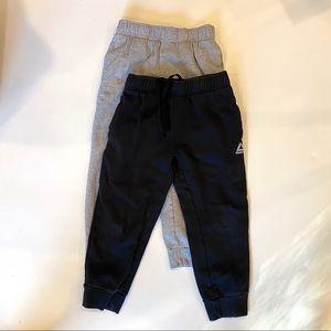 Reebok Sweats (2 Pairs) Black & Grey Small